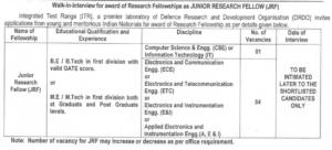 DRDO ITR Chandipur, Balasore Recruitment 2021