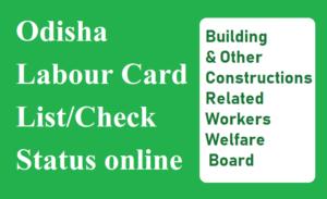 Odisha Labour Card Payment Check Status